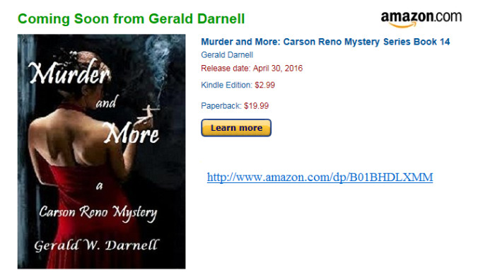 Murder and More on Amazon